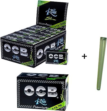 OCB - Juego de 24 Rollos de Papel de Liar (Caja de cartón, Incluye filtros): Amazon.es: Hogar