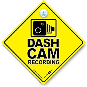 DASH Cam Recording Car Sign, Dash Cam Sign, Warning Vehicle Fitted With Image Recording Technology, Dash Cam Car Sign, CCTV Car Sign, Camera Recording Car Sign, Surveillance Vehicle Sign