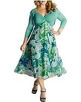 LadyCaca Fashion bohemian estilo mulheres primavera verão patchworking longo dress sexy decote em v vestidos