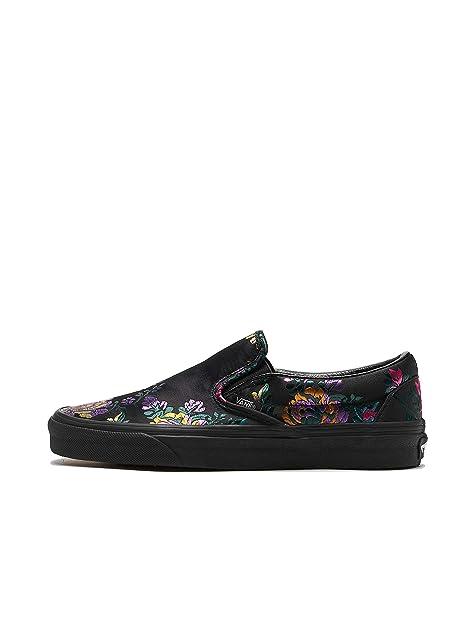 Vans Classic Slip on Festival Satin Donna Nero Sneaker