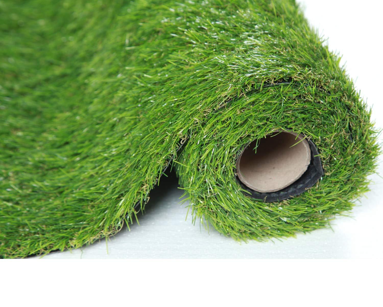 SUMC Kunstrasen Gras Matte  Wolldecke Künstlicher Rasen Freien gefälschtes Gras Rasenteppich Schauender im Freien Garten-Rasen für Hunde Haustiere 30mm Stapelhöhe (1m  4m)
