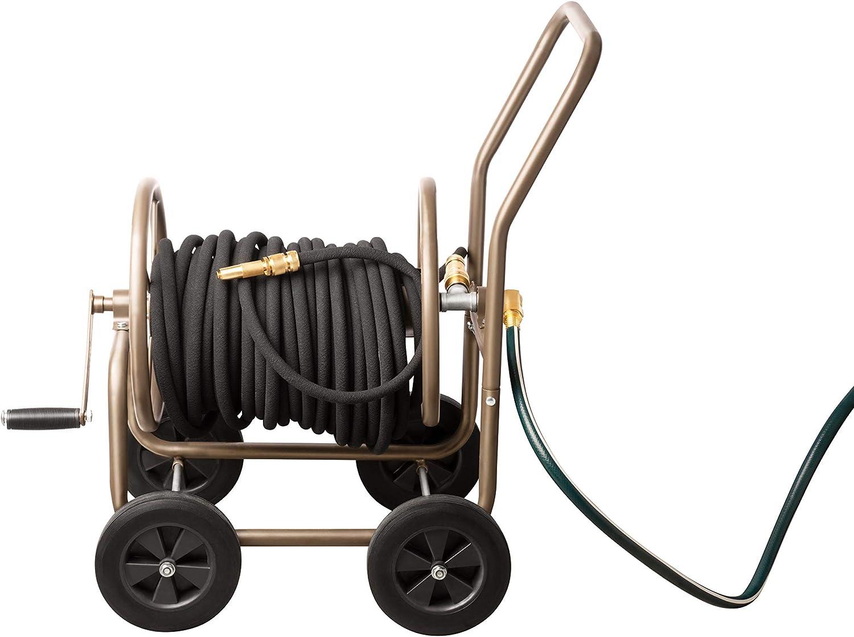 UPP® carrito de metal para manguera de jardín I carro de manguera metálico, alta calidad I Carrete de manguera I Enrollador de manguera de jardín I Carretilla de riego: Amazon.es: Jardín