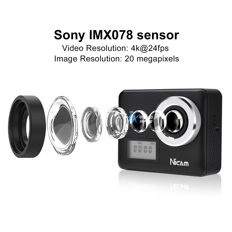 Mypin Nicam Action Kamera Wifi Sports Cam 4k Camera 20mp Foto & Camcorder pg0120