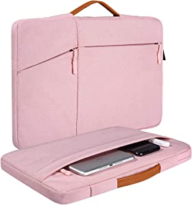14-15 Inch Laptop Briefcase Sleeve for Dell Latitude 14/Dell XPS 15 9570 9575, Lenovo Flex/Lenovo Yoga 14, Acer Spin 3 14, Asus Chromebook/Vivobook 14, HP Pavilion x360 14 Briefcase Sleeve Case(Pink)