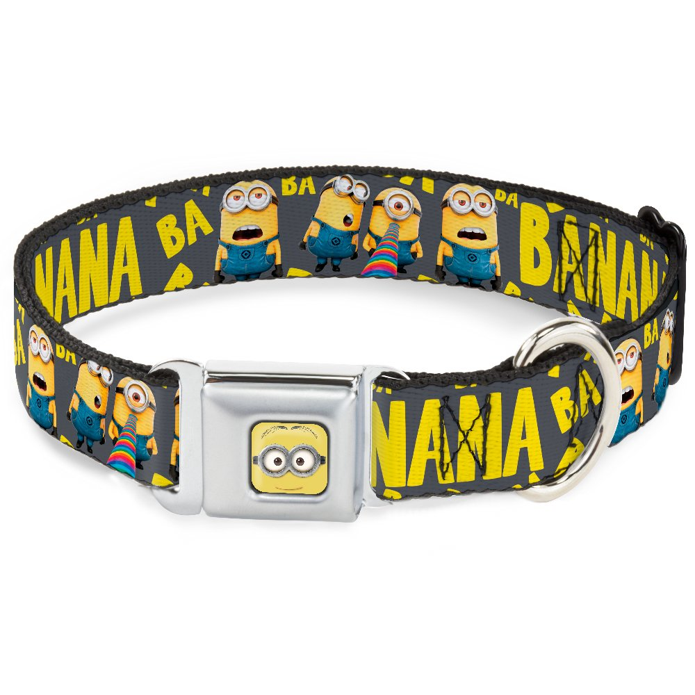 Buckle-Down DC-WDS010-L DSA Minion Dave Face Close Dog Collar, Large 15-26