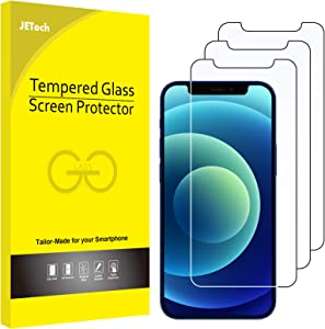 JETech Screen Protector for iPhone 12 mini 5.4-Inch, Tempered Glass Film, 3-Pack