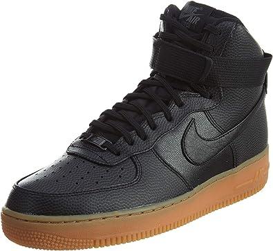 NIKE Air Force 1 Hi Women US 12 Black Basketball Shoe