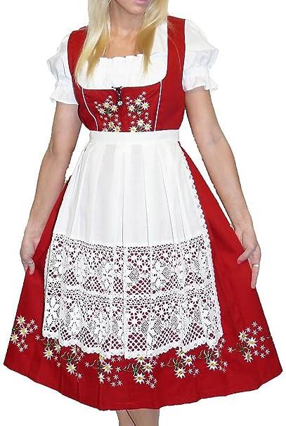 Dirndl Trachten Haus 3 Piece Long German Wear Party Oktoberfest Waitress Dress