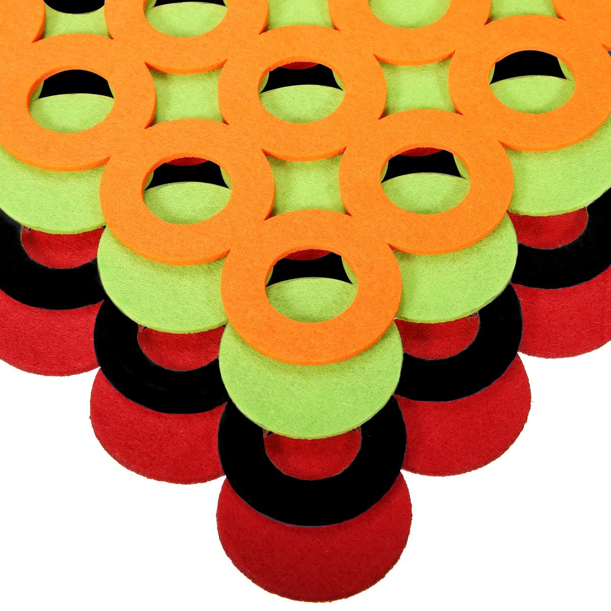 Jeteven 4 Pcs Hollow Placemat Table Cup Mats Non-woven Place Mats Dining Table Coffee Table Multicolor