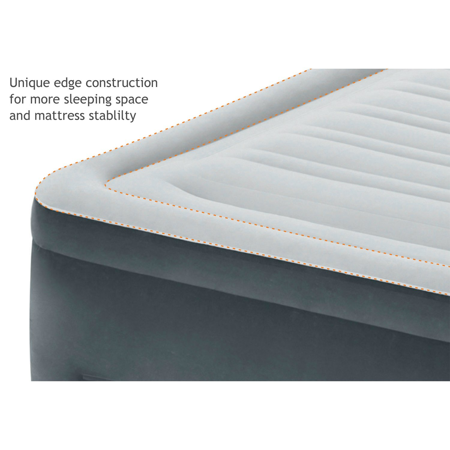 Intex Comfort Plush Elevated Dura-Beam Airbed with Built-in Electric Pump, Bed Height 18'', Twin by Intex (Image #3)