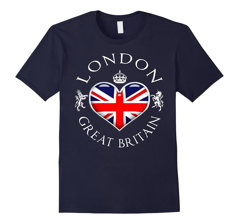 London UK Love Heart Funny T-Shirt-Vaci
