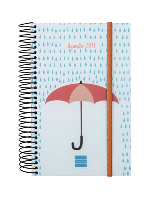 Amazon.com : Finocam Umbrella - Agenda Spiral 2018 Day Page ...