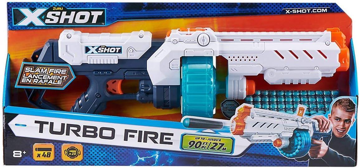 XSHOT- Turbo Fire Pistola, 36270, Color Blanco