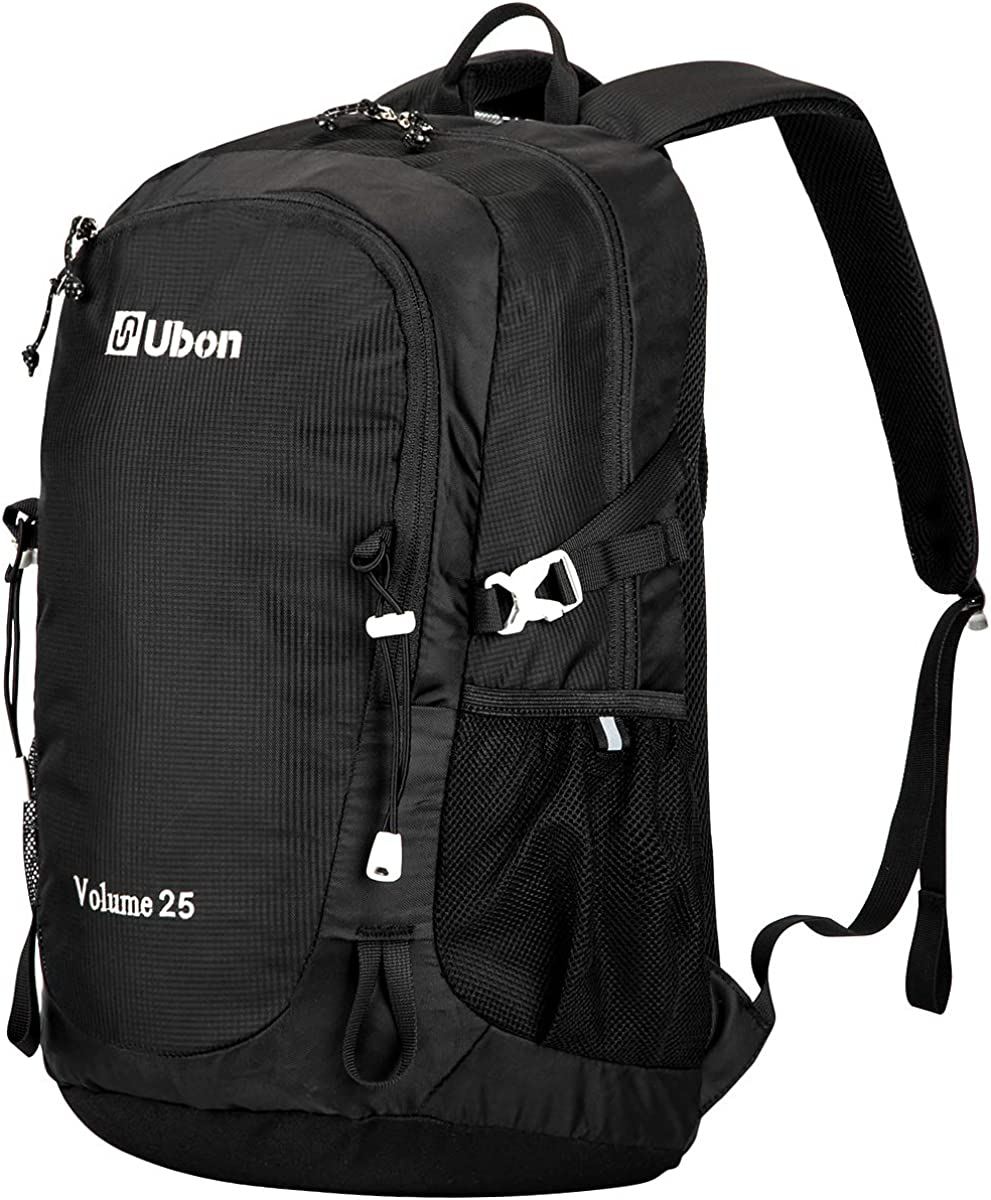 Ubon Ventilated Outdoor Hiking Backpack 25L Travel Daypack with Multi-Pockets