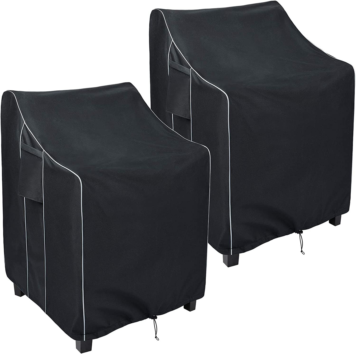 FORSPARK Patio Stackable Chair Covers Waterproof, Heavy Duty Outdoor Furniture Chair Covers, Fits up to 36 x 28 x 47 inches (W x D x H) 2 Pack