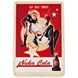 "Fallout 76 Nuka Cola Girl Metal Sign | Fanwraps Official Lithograph | Wonderful 6"" x 9"" Video Game Decor"