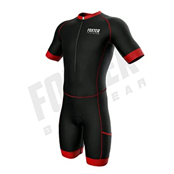 Foxter Men s Kompress Sleeved Triathlon Suit Short Sleeve Race Tri Suit  Aero Triathlon Suit Swim- baec2ed9c