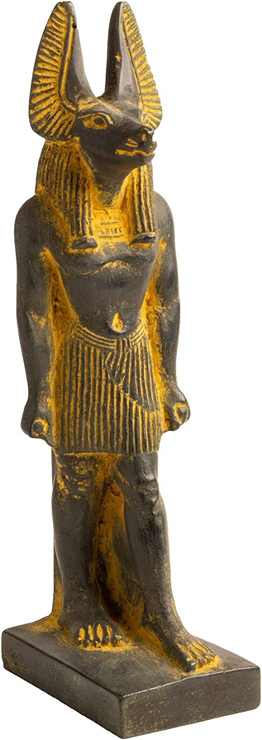 """Discoveries Egyptian Imports - Anubis Statue with Brown Finish 7"""" Tall - Made in Egypt"""