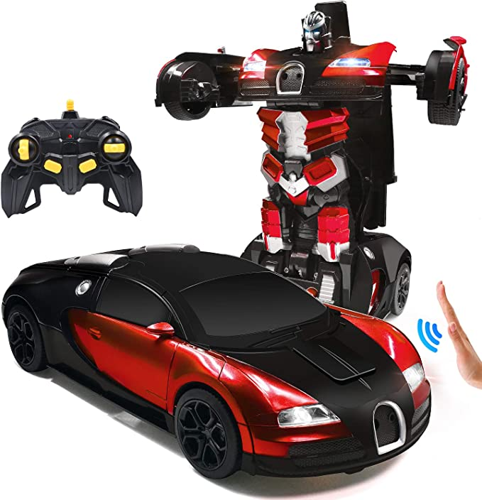 Transformable Car Robot Gesture Sensing Remote Control Vehicles for Kids