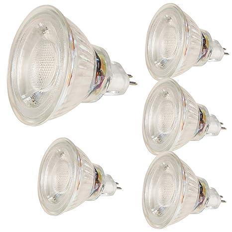 5er Set COB LED de una bombilla de 12 V/casquillo GU5, 3/diámetro de ...