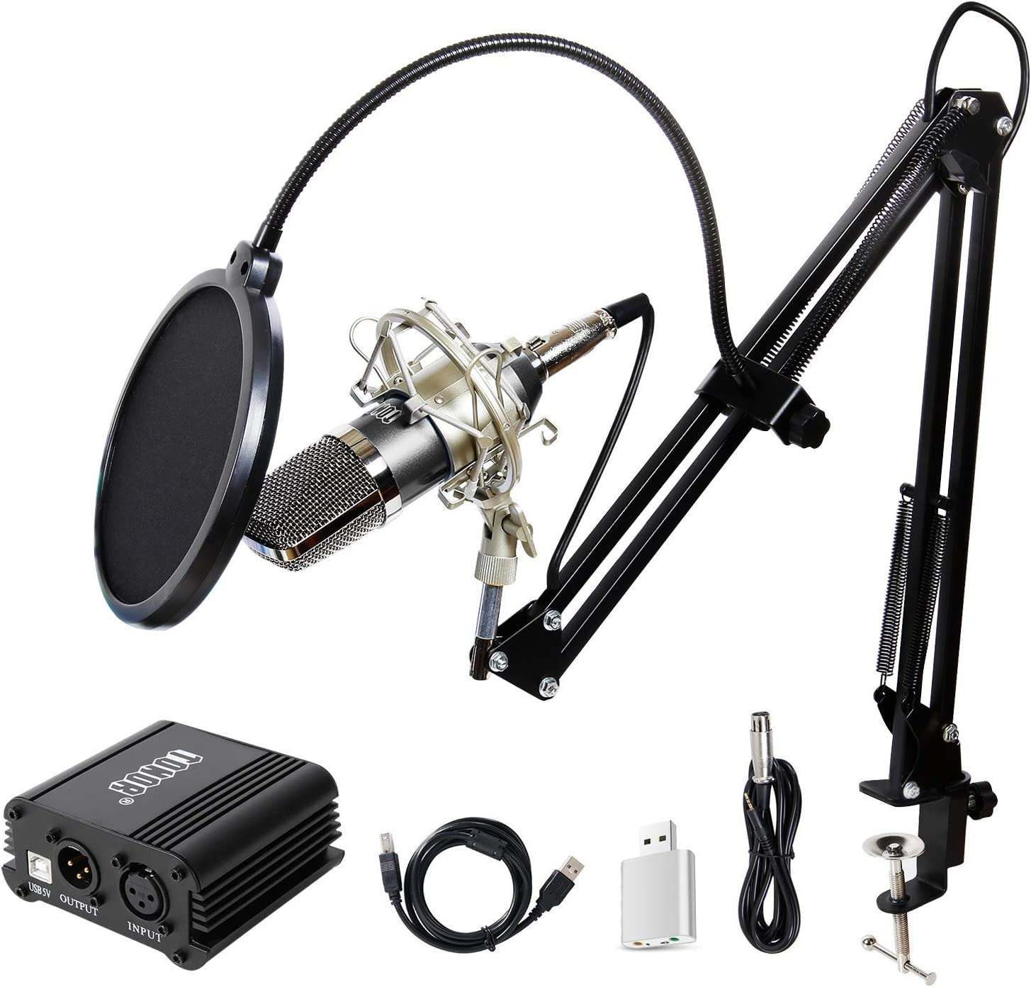 Microfono TONOR Pro Condenser XLR - 3.5mm con Phantom