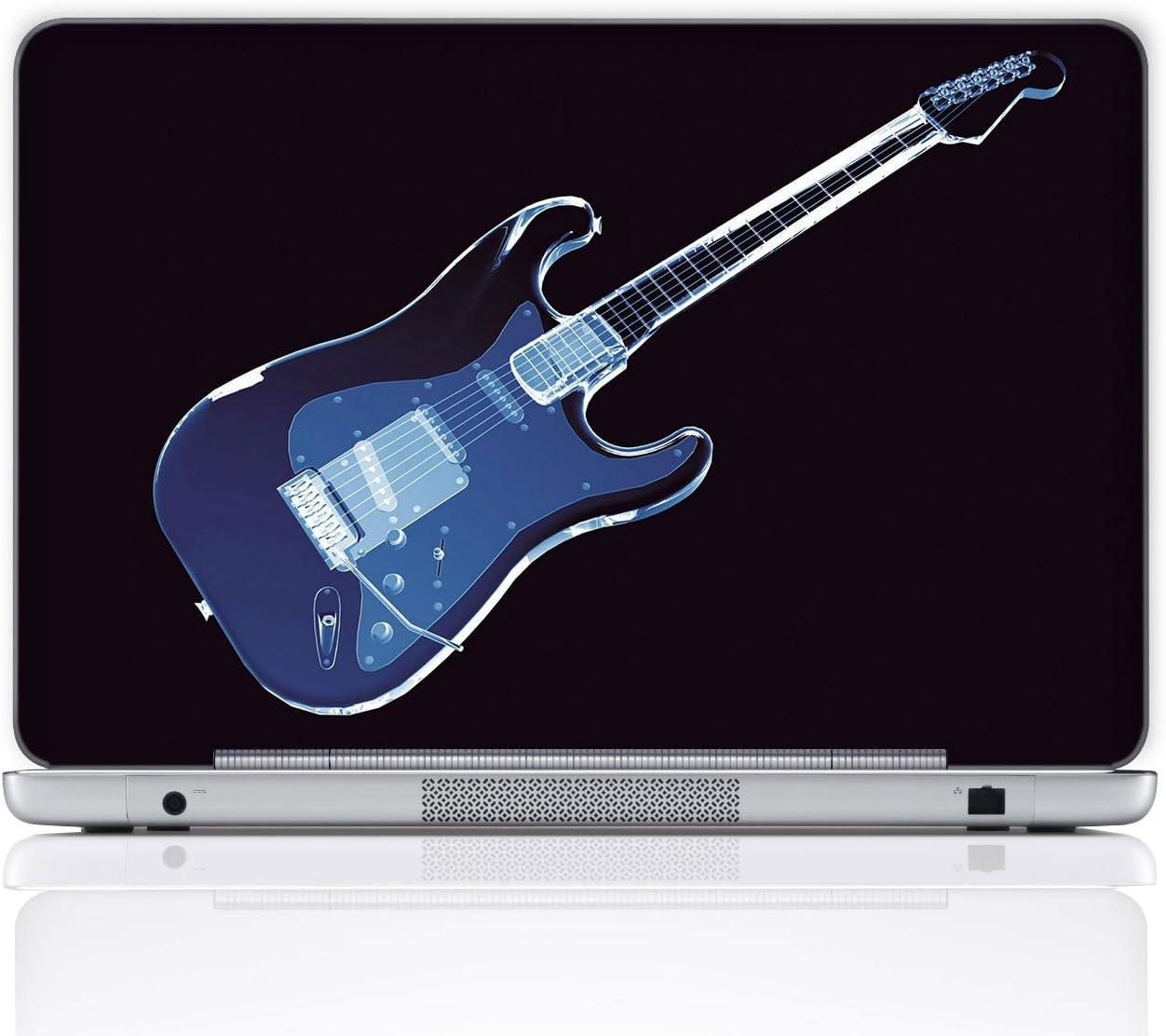 Meffort Inc 15 15.6 Inch Laptop Notebook Skin Sticker Cover Art Decal (Free Wrist pad) - Blue Guitar