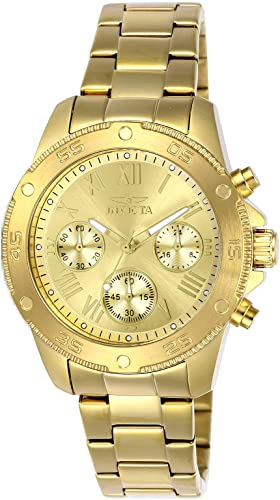 Invicta 21731 Reloj De Cuarzo Con Correa De Acero Inoxidable Color Dorado 18 Modelo 21731 Watches