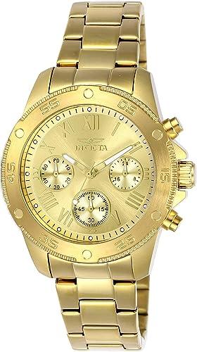 Invicta 21731 Reloj De Cuarzo Con Correa De Acero Inoxidable Color Dorado 18 Modelo 21731 Watches