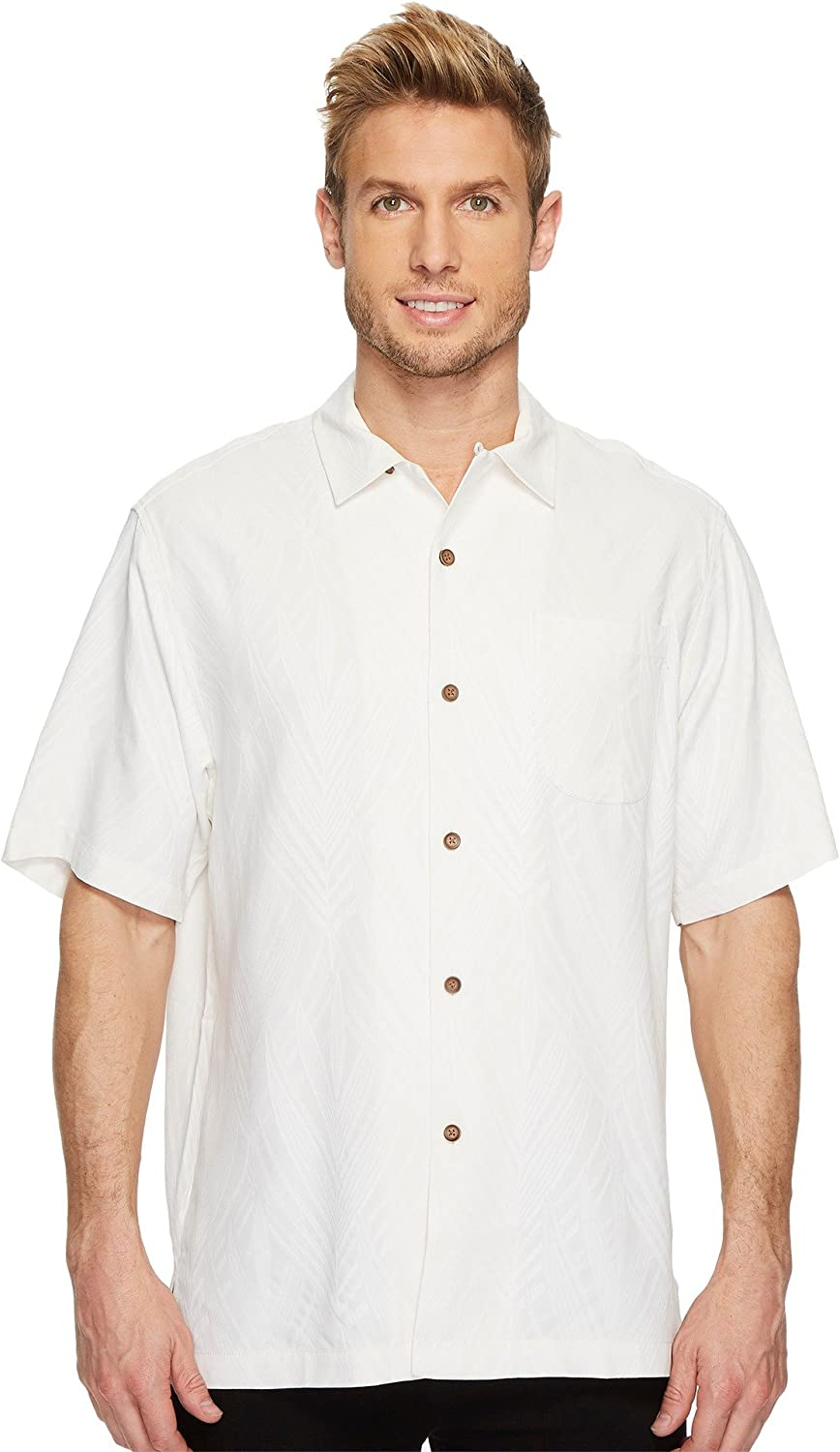 Tommy Bahama Embroidered Local Watering Hole Silk Camp Shirt