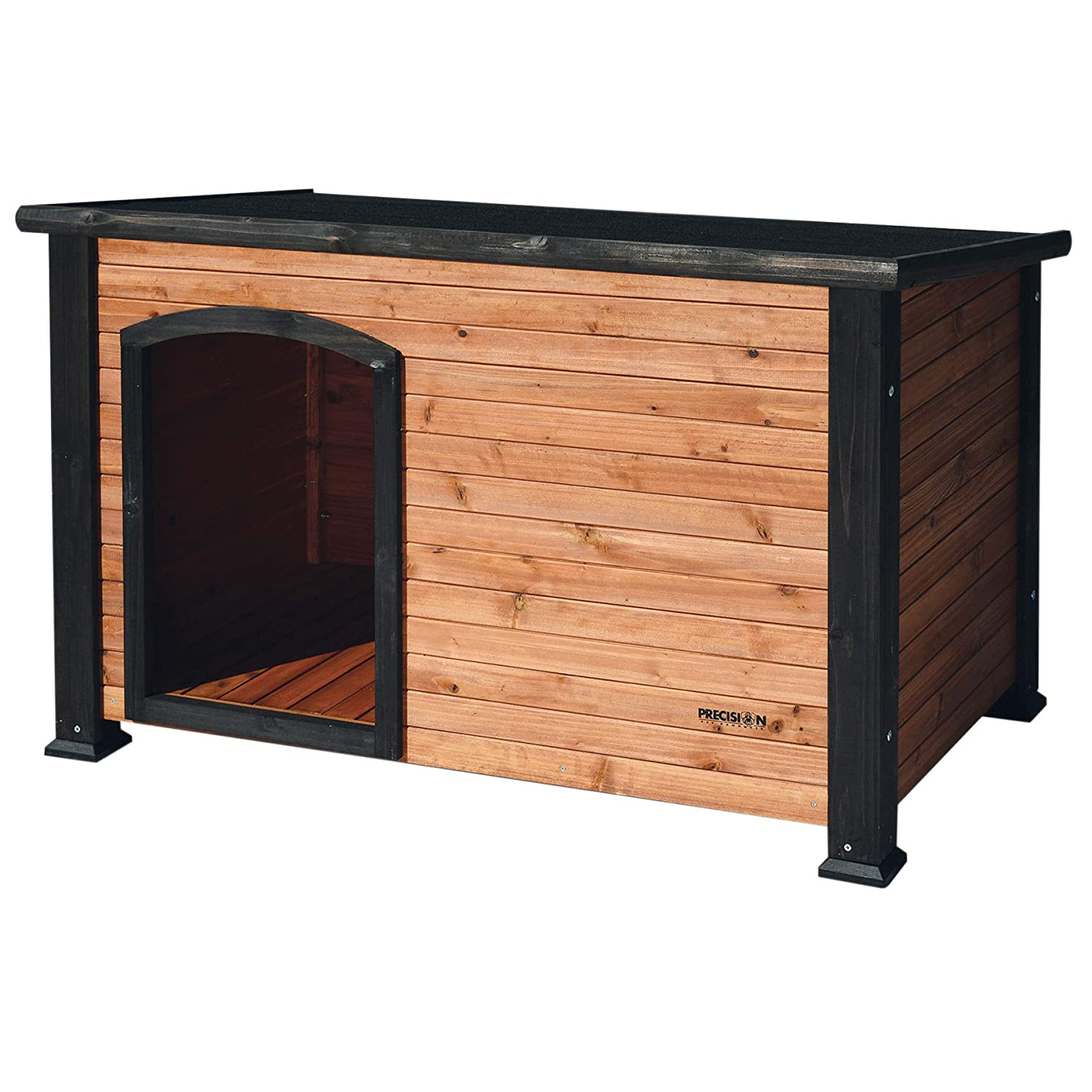 Precision Pet by Petmate Extreme Weather-Resistant Log Cabin Dog House with Adjustable Feet