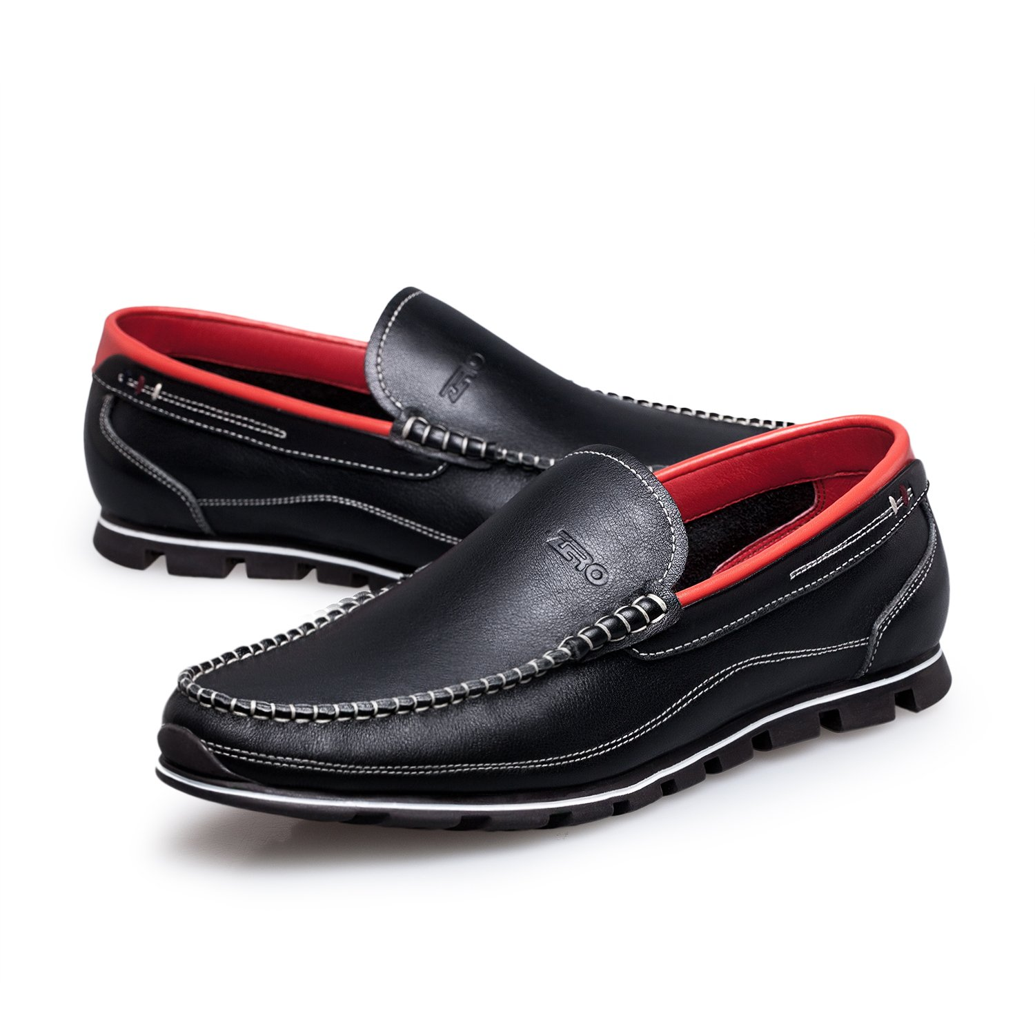ZRO Men's Classy Black Penny Slip-on Loafer for Driving Working Walking Dress Running 10 M US by ZRO (Image #7)