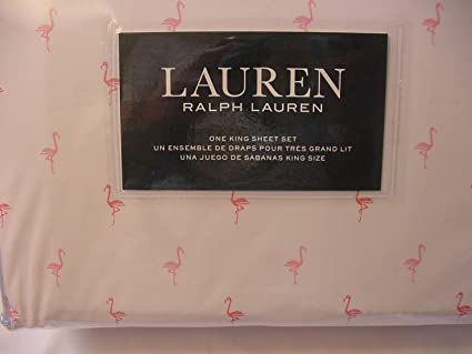 Amazoncom Lauren By Ralph Pink Flamingos Sheet Set King Home - Tres grand lit design