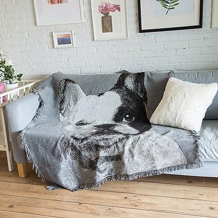 Love House 100% Algodón Manta con Borlas, Impreso Mantas Y Mantas para Sofá Sofá Cama,Decorativas Suave Cubierta De La Silla-d 160x300cm(63x118inch): Amazon.es: Hogar