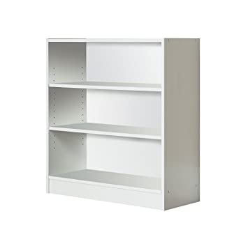 Mylex Three Shelf Bookcase; Two Adjustable Shelves; 11.63 x 29.63 x 31.63  Inches,