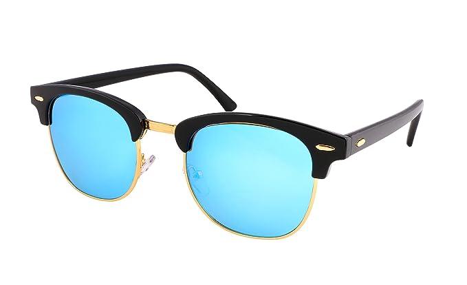 FEISEDY Vintage gafas de sol medio marco para hombres ...
