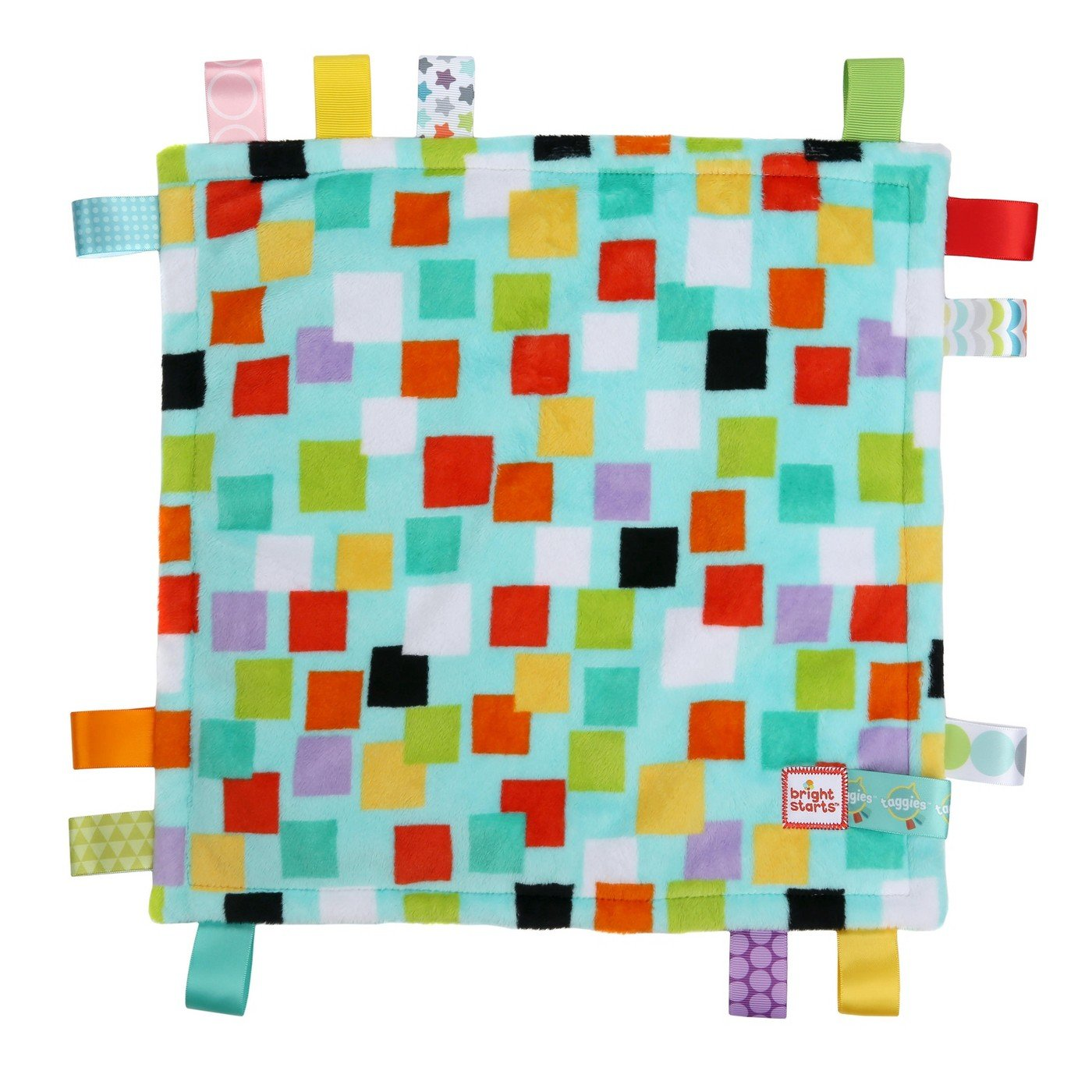 Bright Starts Little Taggies Genuine Taggies Squares Plush Security Comforter Blanket