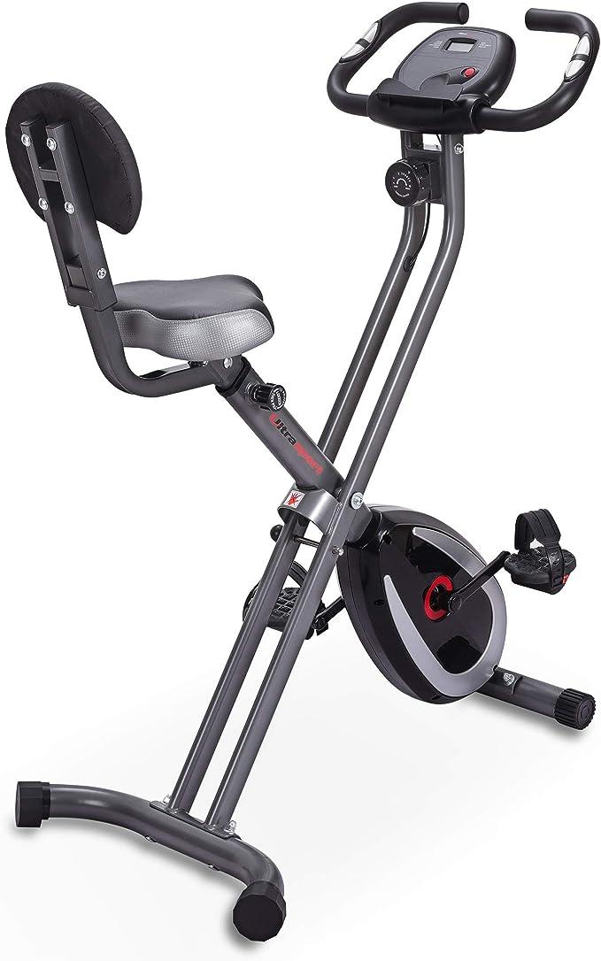 Ultrasport F-Bike 300B Bicicleta estática Plegable, Ordenador y App,F-Bike 300B con Respaldo & APP, Unisex, Negro Mate: Amazon.es: Deportes y aire libre