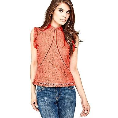 8278ae45e3af Guess Top Mabel Rouge  Amazon.fr  Vêtements et accessoires