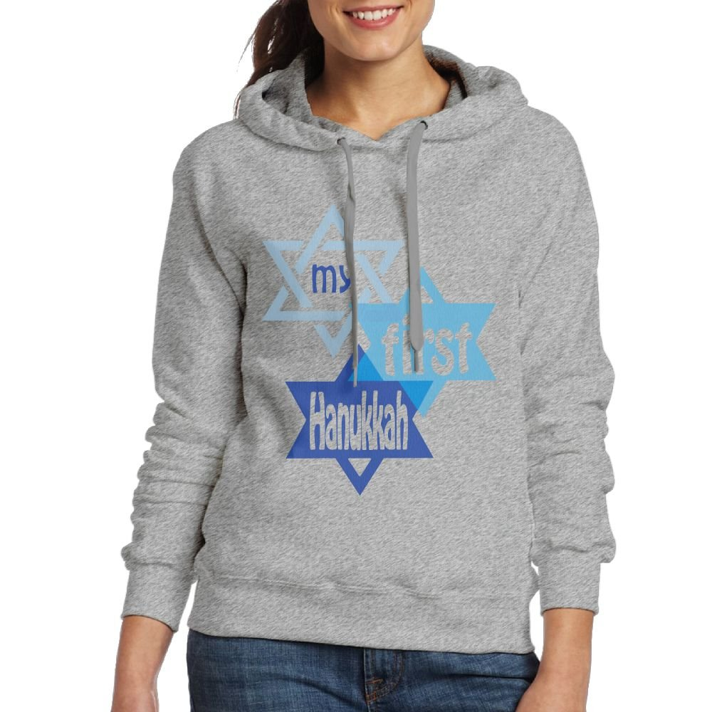 Wxf Womens My First Hannukah Classic Baseball Ash Hoodies