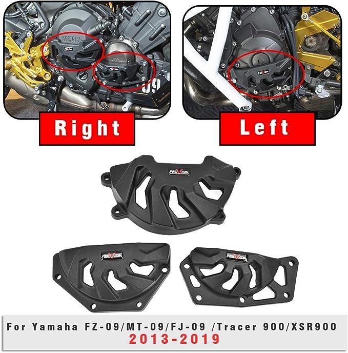 Lorababer Motorrad Motor Statorabdeckung Motorschutz Seitenschutz Für 2013 2019 Yamaha Mt09 Fz09 Fj09 Tracer 900 Xsr900 2015 2016 2017 Auto