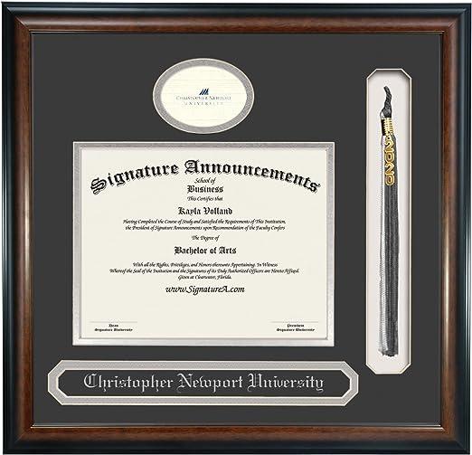 Signature Announcements Indiana Purdue University Fort Wayne Undergraduate Sculpted Foil Seal Graduation Diploma Frame 16 x 16 Cherry