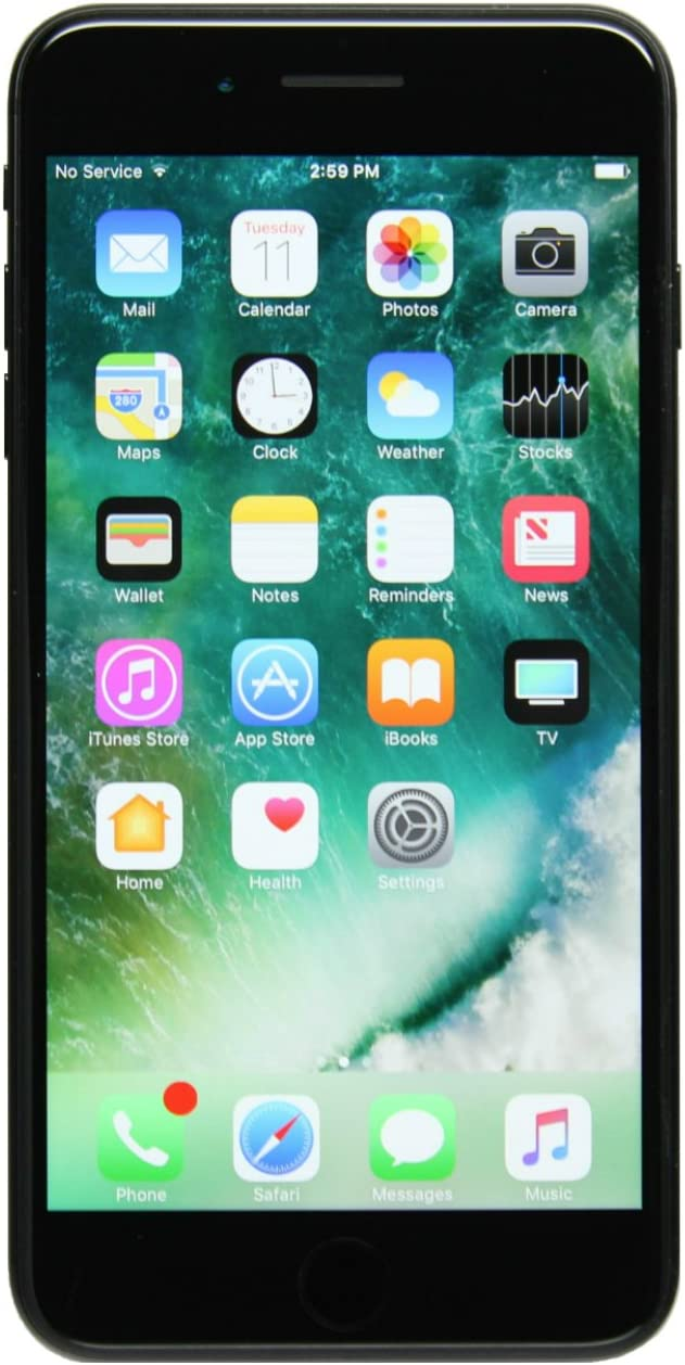 Apple iPhone 7 Plus, 128GB, Black - Fully Unlocked (Renewed)