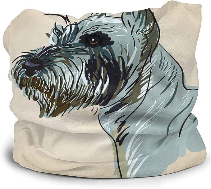 Sggual Dog Vector 3D Print Seamless Face Cover/Diadema ...