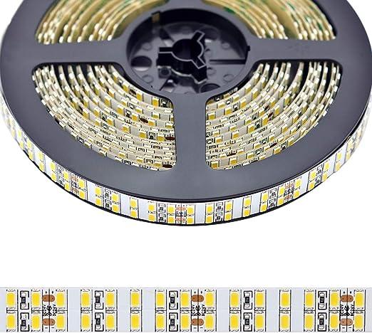 10M Daylight White 5M//Roll 600 LEDs 300 LEDs//Roll 6500-7000K Flexible Rope Light BIHRTC 12V IP65 DC Waterproof LED Strip Light SMD 5630 32.8ft No Power Supply