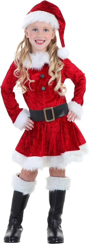 Amazon.com: Disfraz de la Sra. Claus para niños pequeños ...