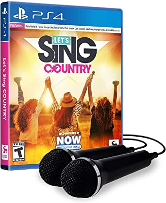 Lets Sing Country - 2 Mic Bundle for PlayStation 4 USA: Amazon.es ...