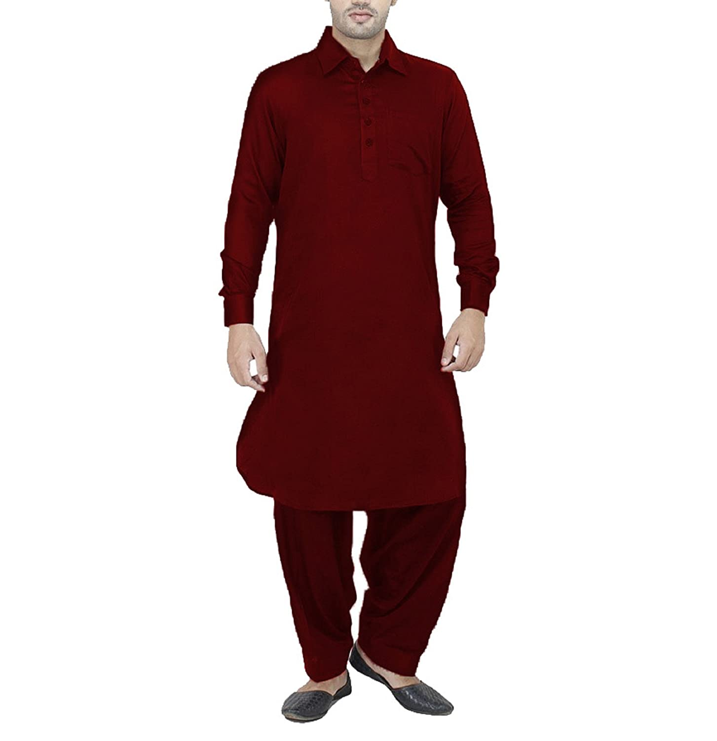 Royal Kurta Men's Linen Pathani Suit