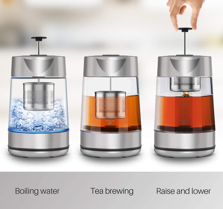 Amazon.com: CISNO Tetera eléctrica de té 2 en 1, tetera de ...