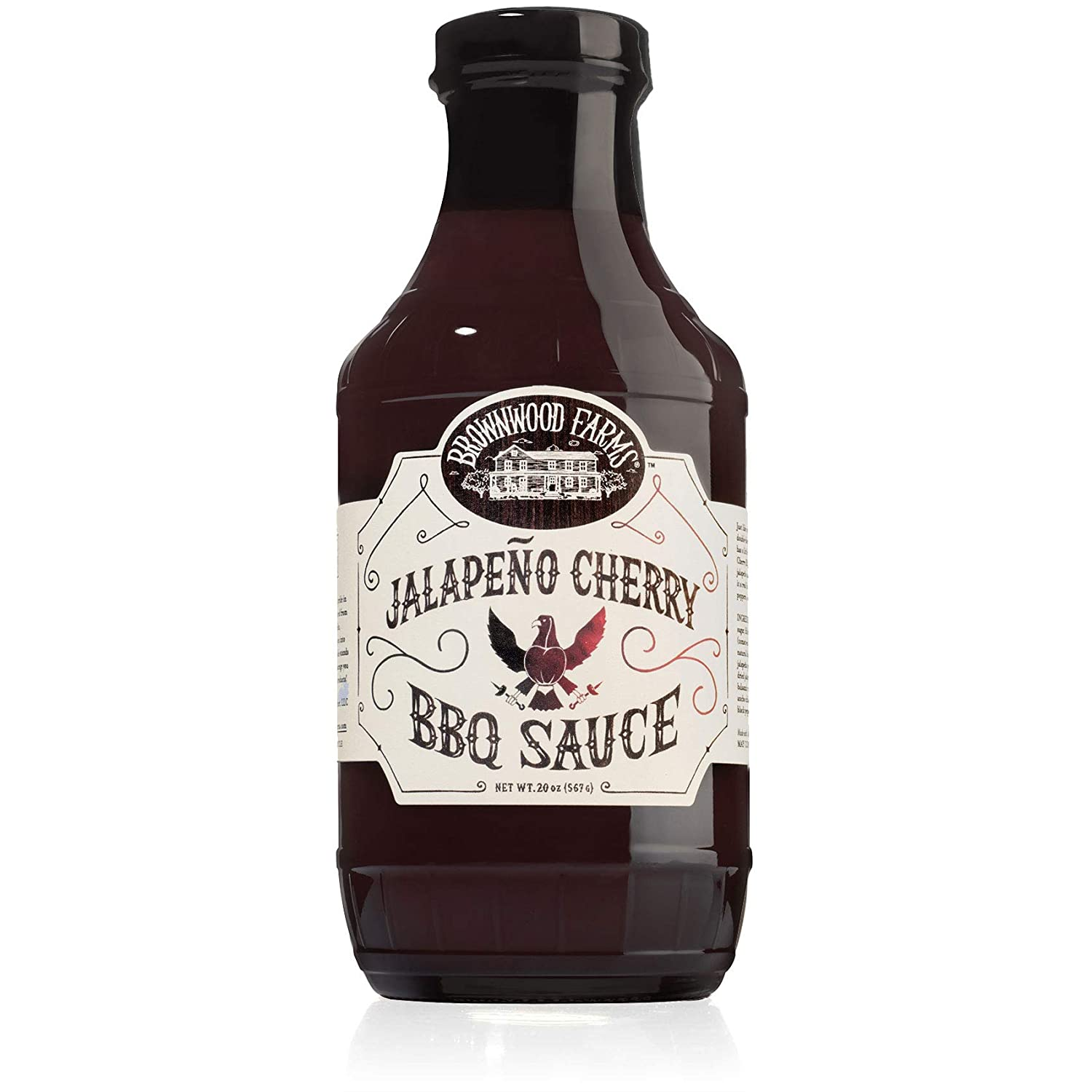 Jalapeño Cherry BBQ Sauce - Brownwood Farms - 20 oz, single pack - Sweet & Tangy Flavors - Gluten Free Barbecue Spread for Meats, Veggies & Other Foods