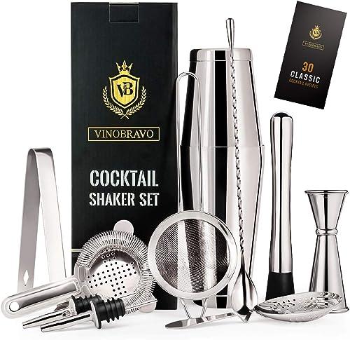 12-Piece-Bartender-Kit-Boston-Cocktail-Shaker-Bar-Set-by-VinoBravo